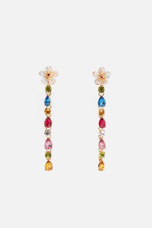 Zara Pendientes flor perlas reales joya