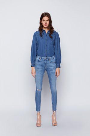 Zara Jeans zw premium 80's skinny sunrise blue