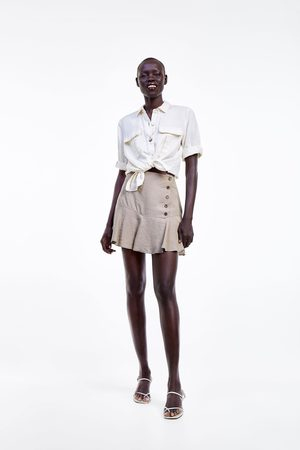 Zara Bermuda falda botones