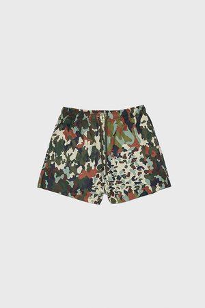 Zara Bañador patchwork camuflaje