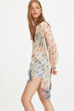 Zara Camisa oversize estampada