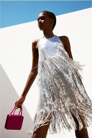 Zara Vestido lentejuelas flecos edición limitada