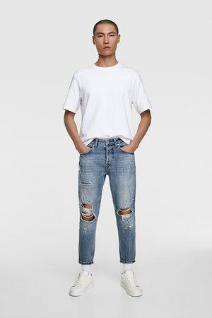 Zara Jeans rotos salpicaduras