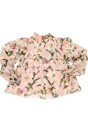 Dolce & Gabbana Camisa De Organza De Seda Estampada
