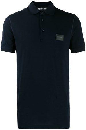 Dolce & Gabbana Hombre Polos - Logo patch polo shirt