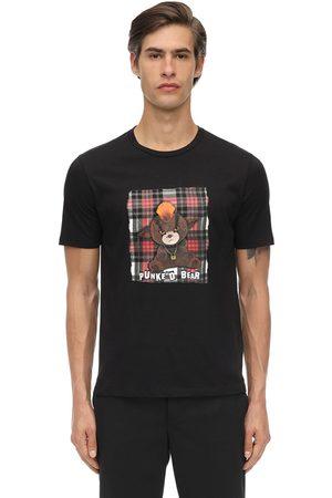 Neil Barrett Camiseta De Algodón Jersey Estampada