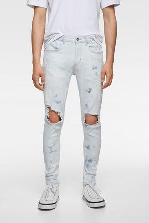 Zara Hombre Skinny - Jeans skinny rotos salpicaduras