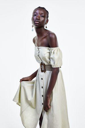 Zara Vestido cinturón trenzado