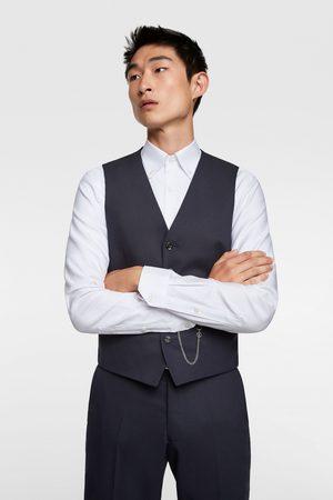 Zara Chaleco conjunto cinzato comfort