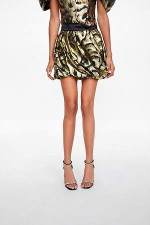 Zara Falda mini hilo metalizado