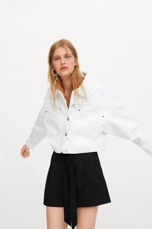 Zara Mujer Cinturones - Bermuda paperbag cinturón