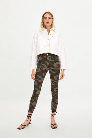 Zara Jeans skinny camuflaje