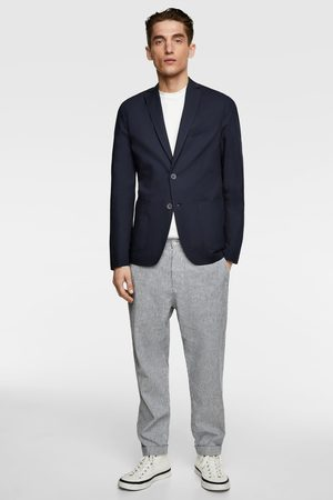 Zara Hombre Sacos - Blazer algodón