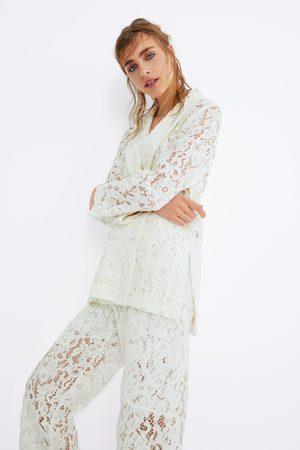 Zara Mujer Sacos - Blazer encaje