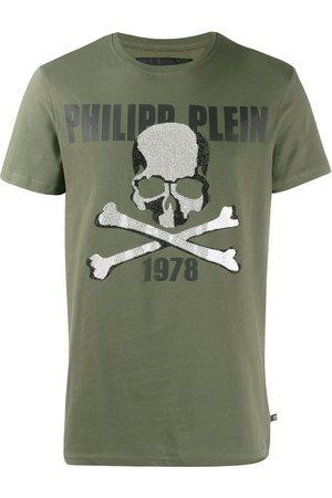 Philipp Plein Playera con estampado de calavera