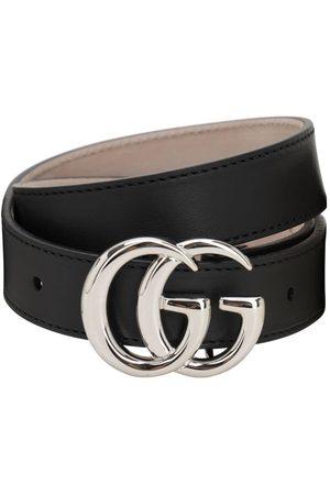 """Gucci Cinturón De Piel """"gg"""""""