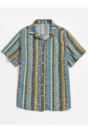 Zaful Jacquard Print Shirt
