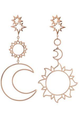 Zaful Sun Moon Hollow Dangle Earrings