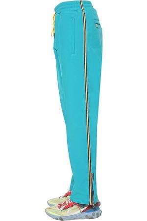 JUST DON Tech Track Pants W/ Side Zip & Bands