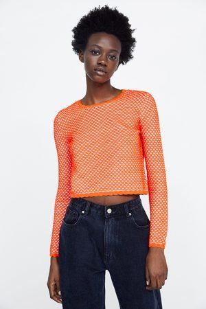 Zara Mujer Suéteres - Jersey estructura semitransparente