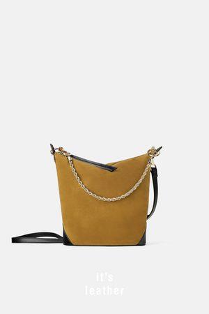 Zara Mujer Collares - Bolso saco cadena ante