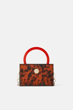 Zara Mujer Bolsas de mano - Bolso de mano estampado animal metacrilato