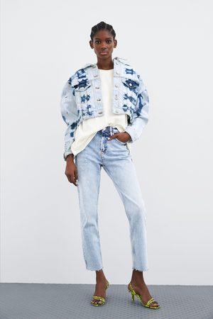 Zara Mujer De mezclilla - Cazadora denim cropped tie dye