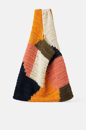 Zara Bolso shopper multicolor algodón