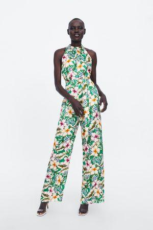 Zara Mono halter estampado floral