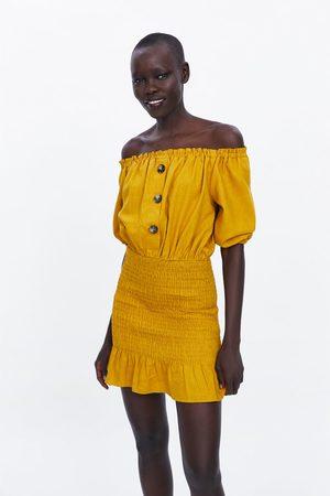 Zara Mujer Vestidos - Vestido rústico