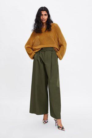 Zara Jersey algodón cuello amplio