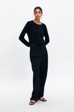 Zara Mujer Suéteres - Jersey básico botones
