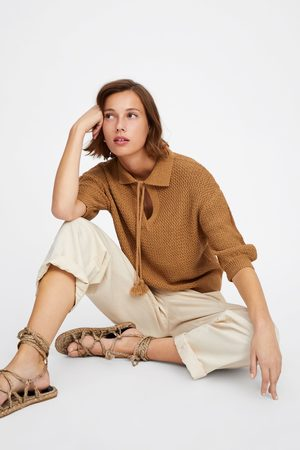 Zara Mujer Suéteres - Jersey estructura manga abullonada