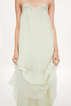 Zara Mujer Vestidos - Vestido plisado