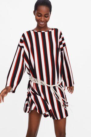 Zara Mujer Estampados - Vestido rayas cinturón