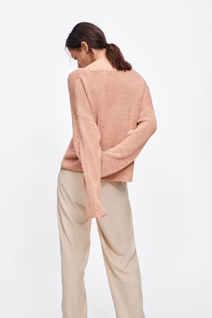 Zara Mujer Suéteres - Jersey punto escote pico