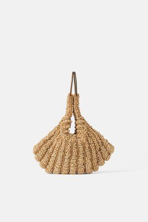 Zara Mujer Bolsas de mano - Bolso de mano mini saco abalorios