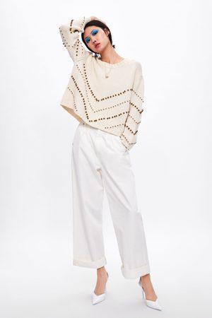 Zara Mujer Suéteres - Jersey punto abalorios