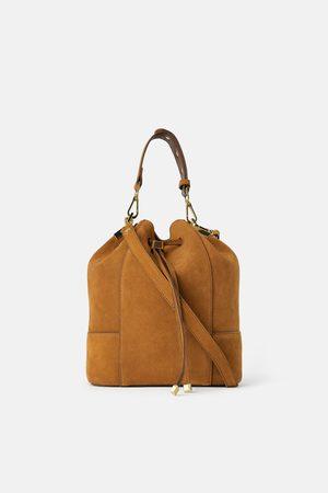 Zara Mujer Bolsas - Bolso saco serraje