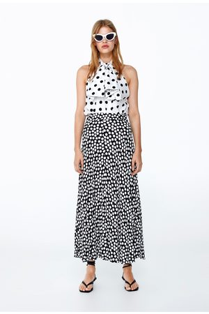 Zara Mujer Camisas - Cuerpo lunares lazo