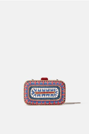 Zara Mujer Bolsas de mano - Bolso de mano trenzado natural