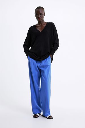 Zara Mujer Suéteres - Jersey largo punto