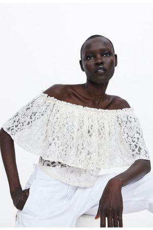 Zara Mujer Tops - Top cropped encaje