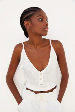 Zara Mujer Tops - Top textura botones