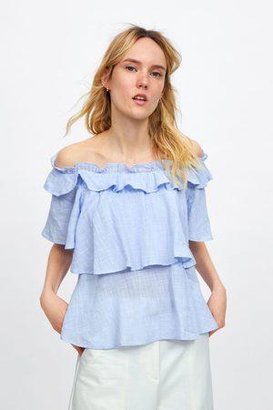 Zara Mujer Camisas - Cuerpo volantes
