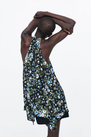 Zara Mujer Tops halter - Top halter estampado