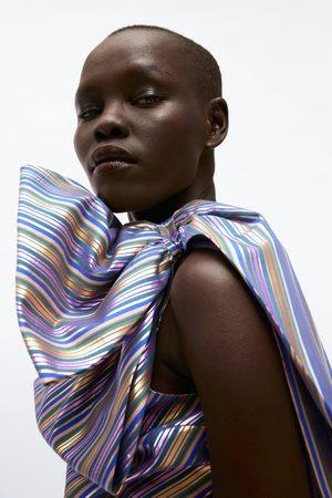 Zara Mujer Camisas - Cuerpo rayas lazo