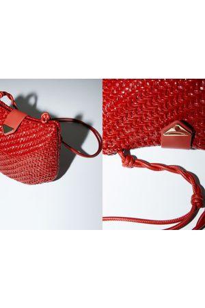 Zara Mujer Bolsas crossbody - Bandolera trenzada natural brillo