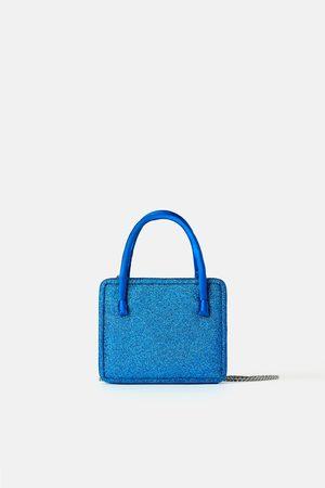 Zara Mujer Bolsas crossbody - Mini bandolera glitter blue collection