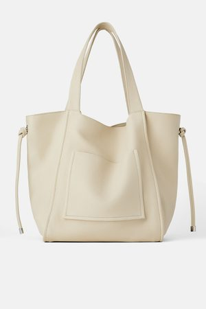 Zara Mujer Bolsas - Bolso shopper mediano piel